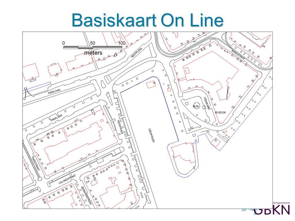 Afbeelding 3: Basiskaart On Line met luchtfoto en bestemmingen, in ArcMap (prov. Zuid-Holland) Basiskaart On Line