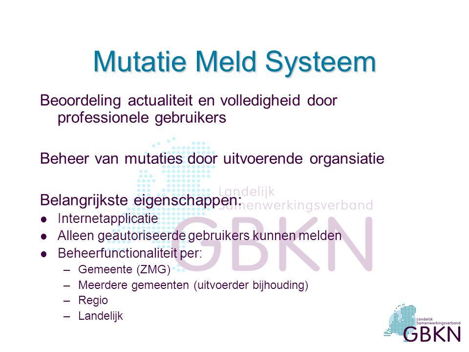 De GBKN op Internet l Website www.gbkn.nl : 1 oktober 2000www.gbkn.nl l Bestelloket: 9 april 2003 l Mutatiemeldsysteem: 1 juli 2004 l Basiskaart On Li