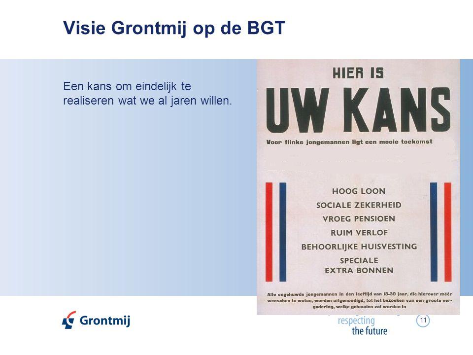 11 Visie Grontmij op de BGT Een kans om eindelijk te realiseren wat we al jaren willen.