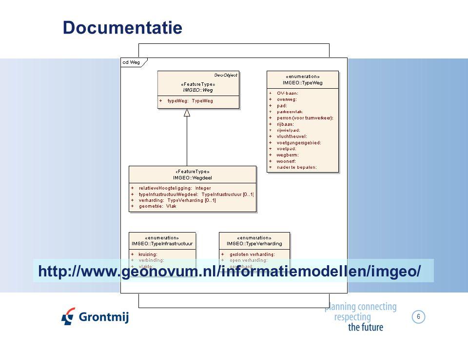 6 Documentatie http://www.geonovum.nl/informatiemodellen/imgeo/