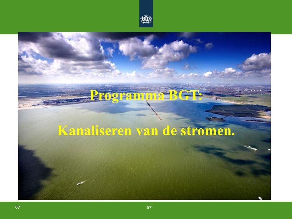 67 Programma BGT: Kanaliseren van de stromen.