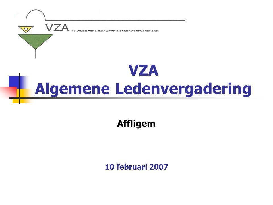 VZA Algemene Ledenvergadering Affligem 10 februari 2007