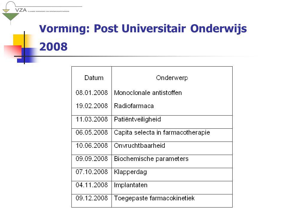 Vorming: Post Universitair Onderwijs 2008