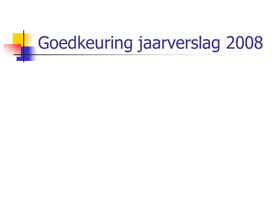 Goedkeuring jaarverslag 2008