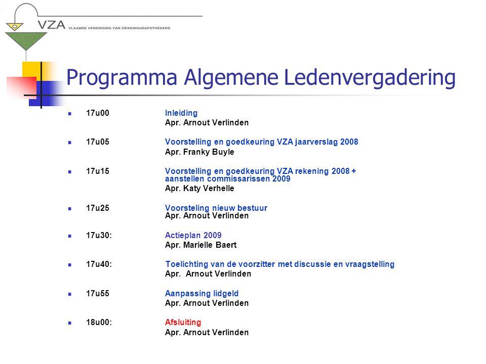 Programma Algemene Ledenvergadering 17u00Inleiding Apr.