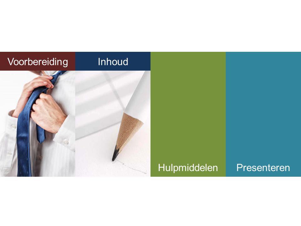 Voorbereiding InhoudHulpmiddelenPresenteren Inhoud