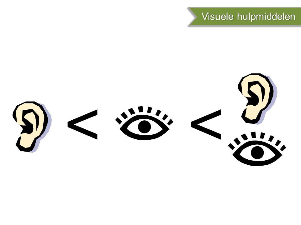 < Visuele hulpmiddelen Visuele hulpmiddelen