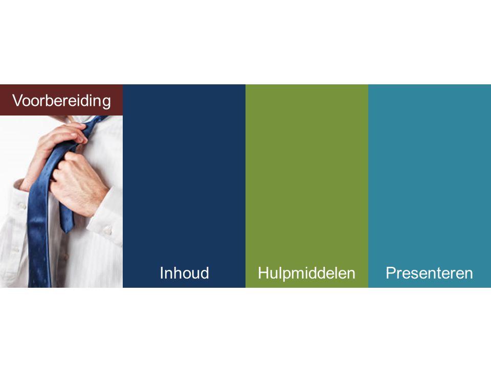 Voorbereiding InhoudHulpmiddelenPresenteren