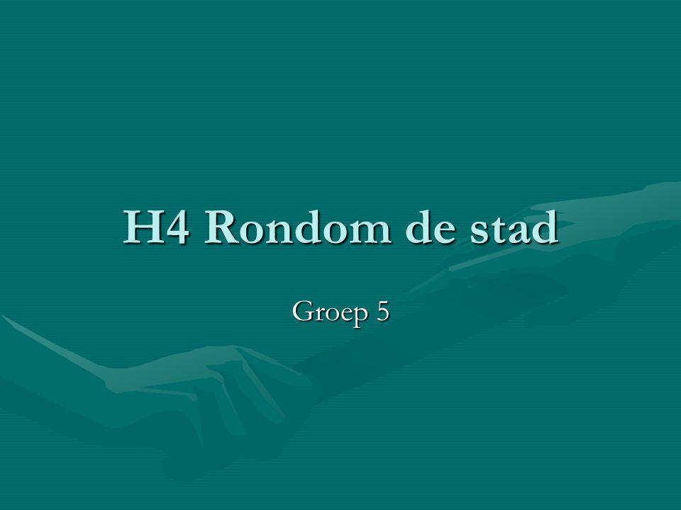 H4 Rondom de stad Groep 5