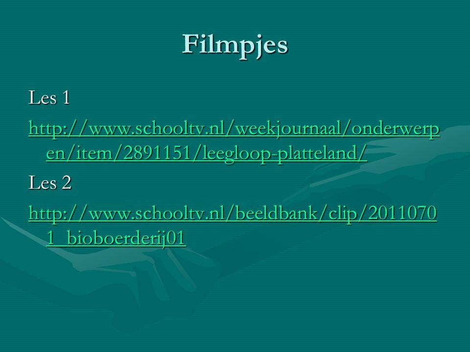 Filmpjes Les 1 http://www.schooltv.nl/weekjournaal/onderwerp en/item/2891151/leegloop-platteland/ http://www.schooltv.nl/weekjournaal/onderwerp en/ite