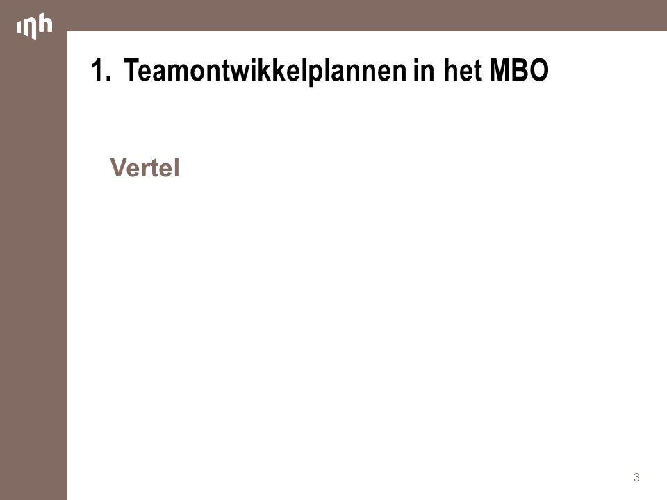 1.Teamontwikkelplannen in het MBO Vertel 3