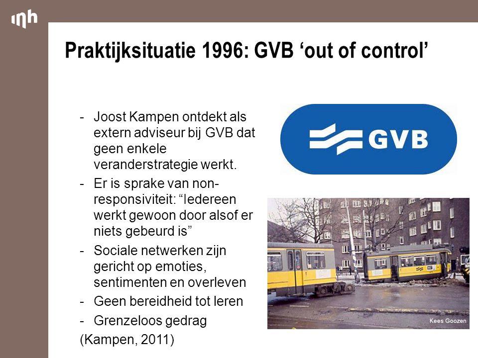 """ Joost Kampen ontdekt als extern adviseur bij GVB dat geen enkele veranderstrategie werkt.  Er is sprake van non- responsiviteit: """"Iedereen werkt ge"""