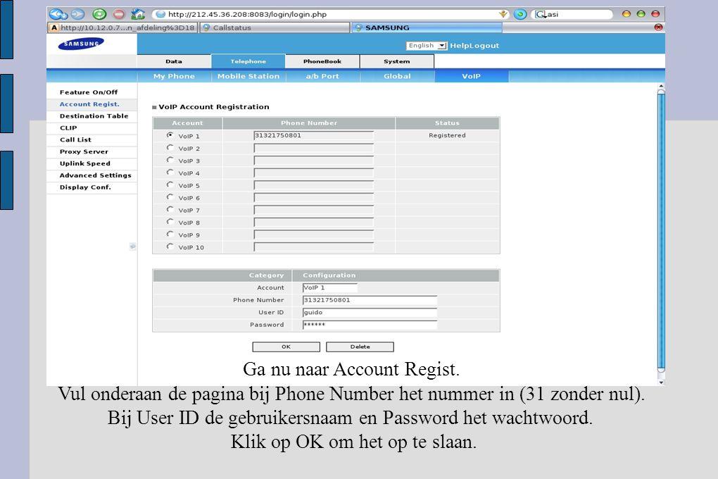 Verander hier het standaard wachtwoord naar het het wachtwoord van de klant.