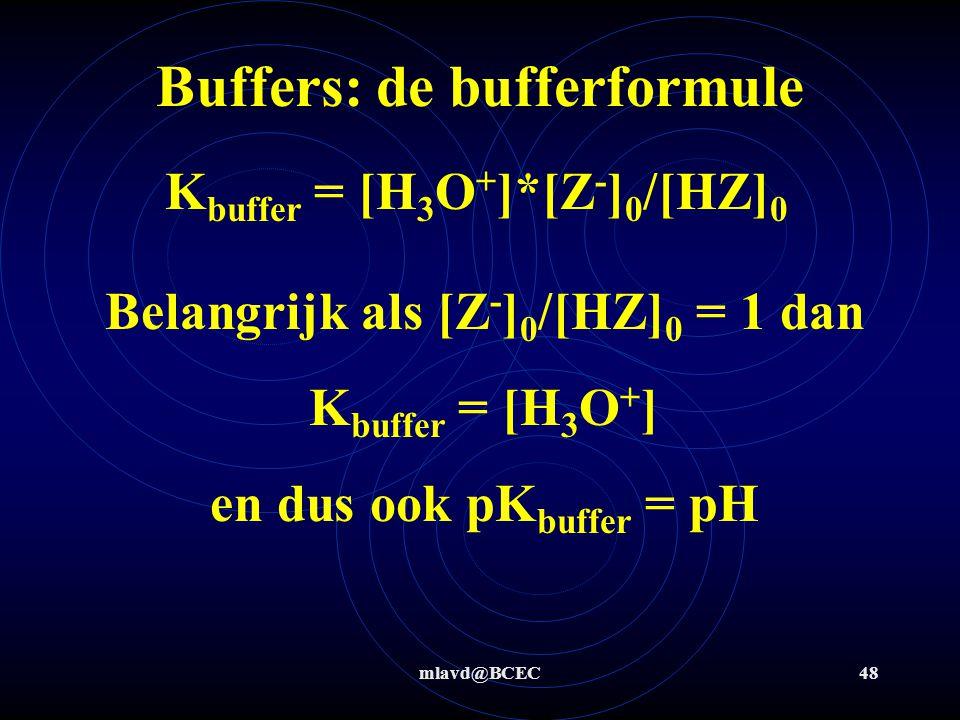 mlavd@BCEC47 Je kan buffers op meerdere manieren maken: Manier 1: los een bekende hoeveelheid zwak zuur en het (natrium) zout van zijn geconjugeerde base op in water.