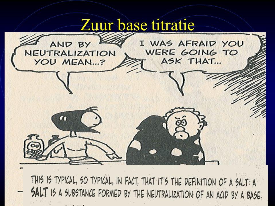 mlavd@BCEC54 Zuur base titratie Bij een titratie wordt d.m.v.