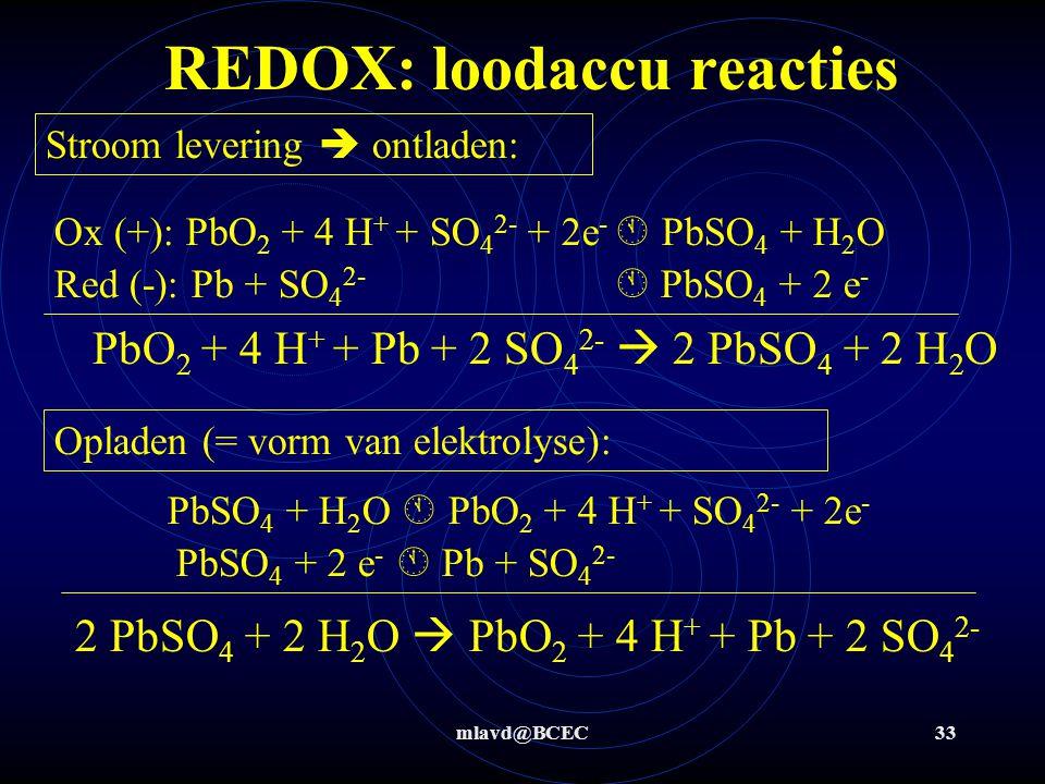 mlavd@BCEC32 REDOX: corrosiebescherming Zn-blokken  lossen eerder op Nadeel: meer weerstand van schip, vervangings- + milieukosten