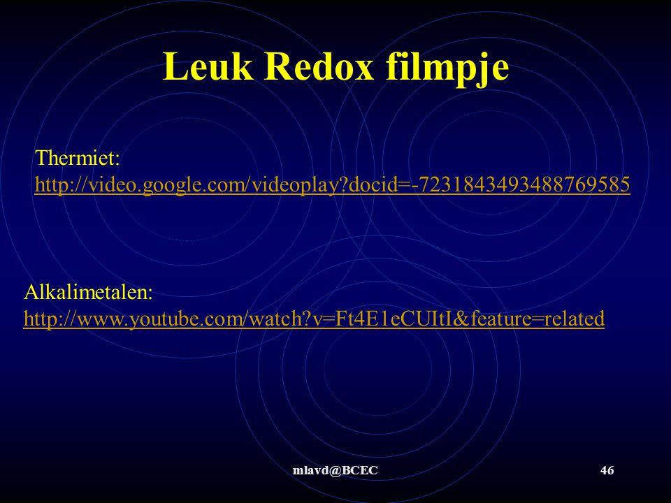 mlavd@BCEC45 Titreren Simulatie: http://www.chem.iastate.edu/group/Greenbowe/sections/projectfolder/flashfiles/redoxNew/redox.html http://www.chem.ias