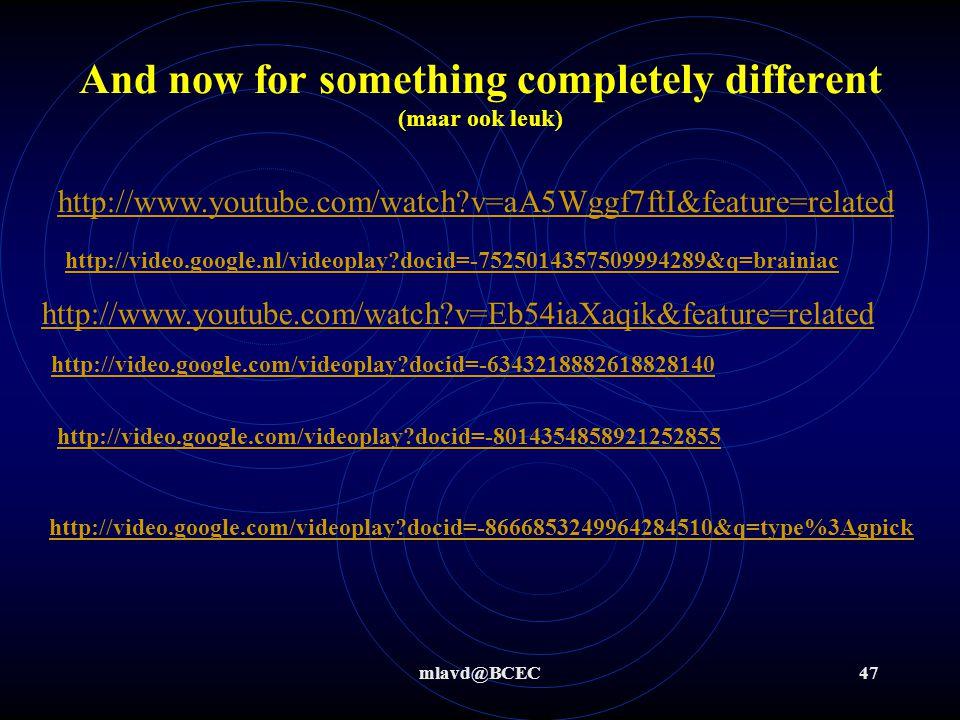 mlavd@BCEC46 Leuk Redox filmpje Thermiet: http://video.google.com/videoplay?docid=-7231843493488769585 http://video.google.com/videoplay?docid=-723184