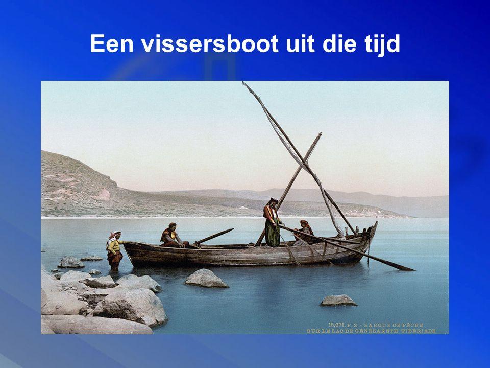 Een vissersboot uit die tijd