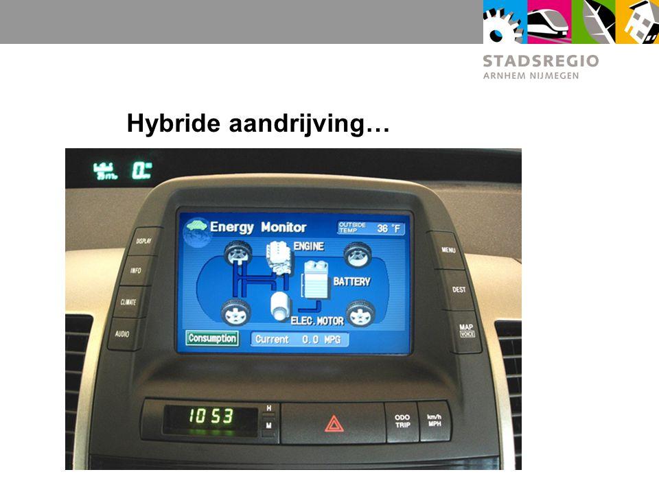 Hybride aandrijving…