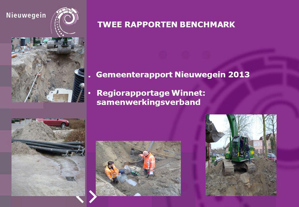 TWEE RAPPORTEN BENCHMARK. Gemeenterapport Nieuwegein 2013 Regiorapportage Winnet: samenwerkingsverband