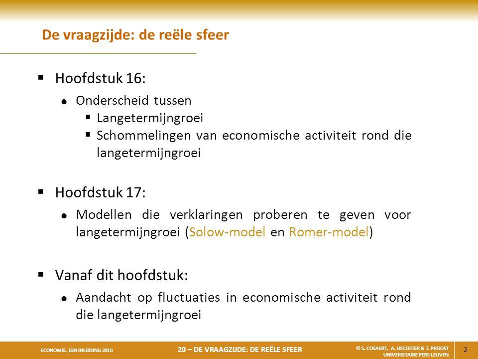 33 ECONOMIE, EEN INLEIDING 2010 20 – DE VRAAGZIJDE: DE REËLE SFEER © S.