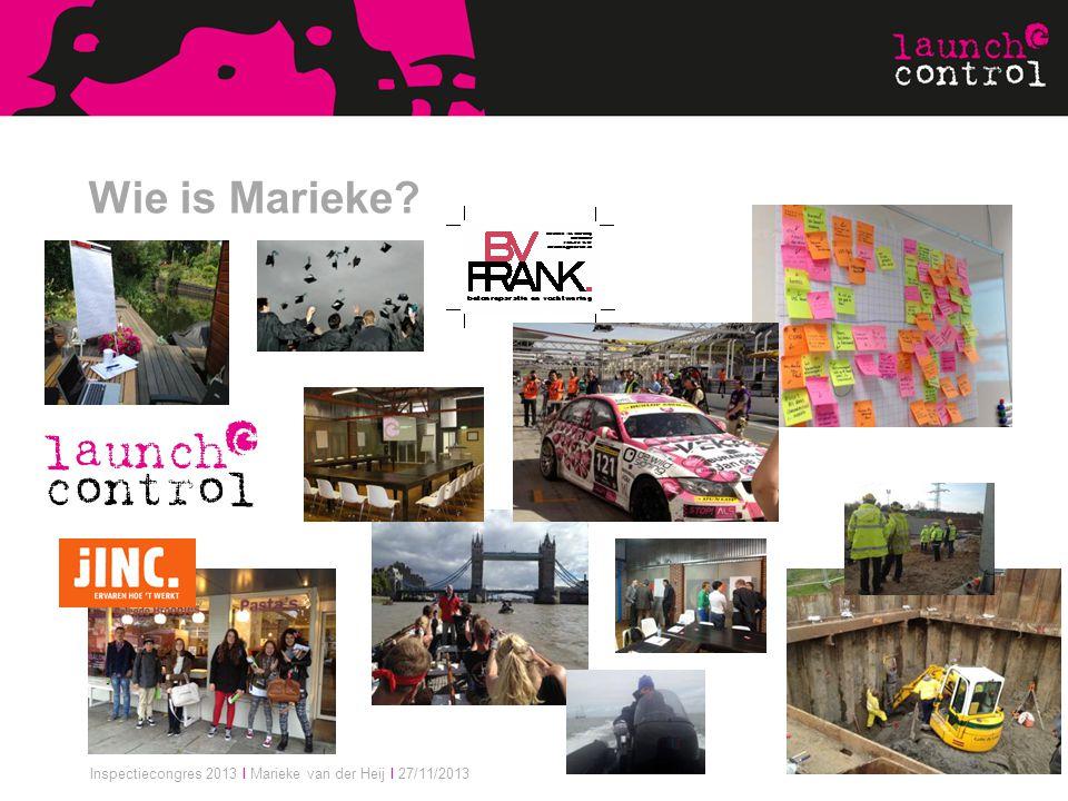 Inspectiecongres 2013 I Marieke van der Heij I 27/11/2013 Wie is Marieke?