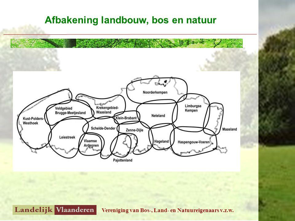 Vereniging van Bos-, Land- en Natuureigenaars v.z.w. Afbakening landbouw, bos en natuur
