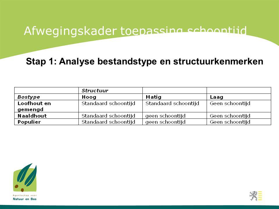 Afwegingskader toepassing schoontijd Stap 1: Analyse bestandstype en structuurkenmerken