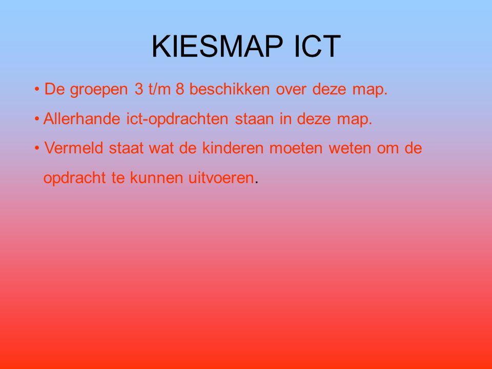 KIESMAP ICT De groepen 3 t/m 8 beschikken over deze map.