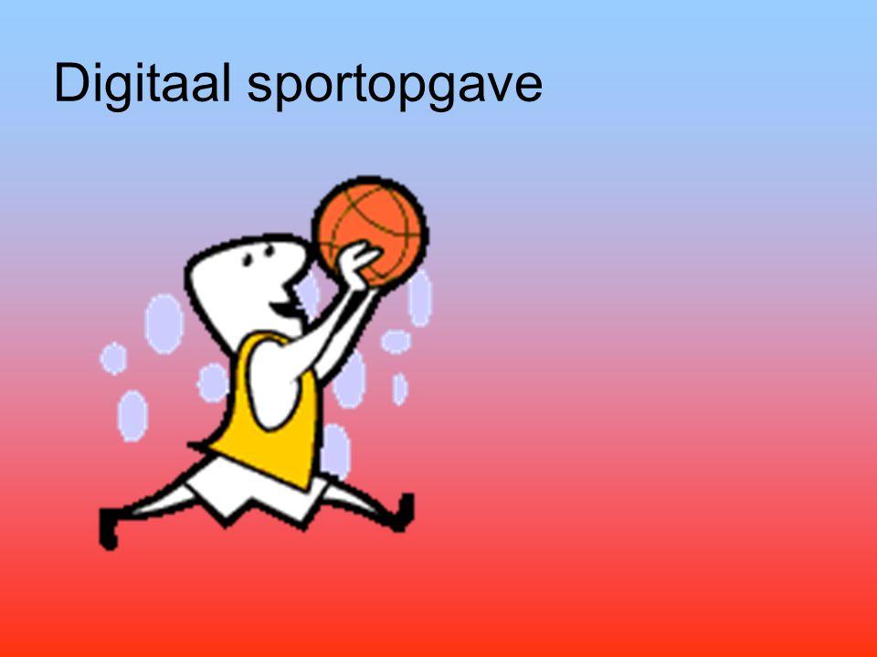 Digitaal sportopgave