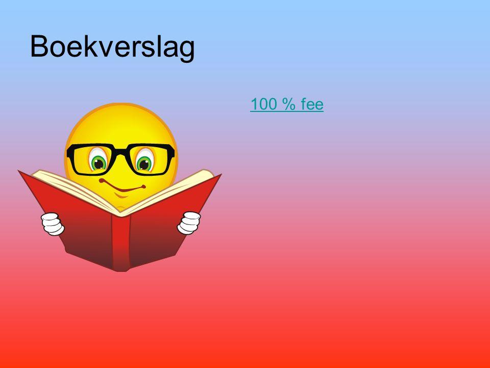 Boekverslag 100 % fee