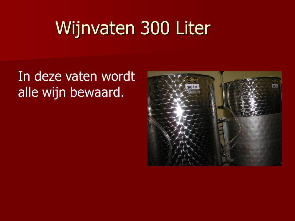 Wijnvaten 300 Liter In deze vaten wordt alle wijn bewaard.