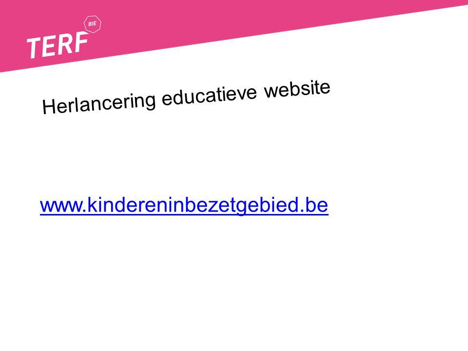 Herlancering educatieve website www.kindereninbezetgebied.be