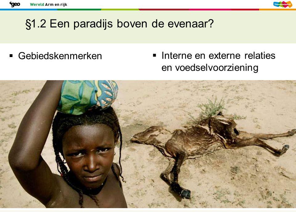 §1.2 Een paradijs boven de evenaar?  Gebiedskenmerken  Interne en externe relaties en voedselvoorziening