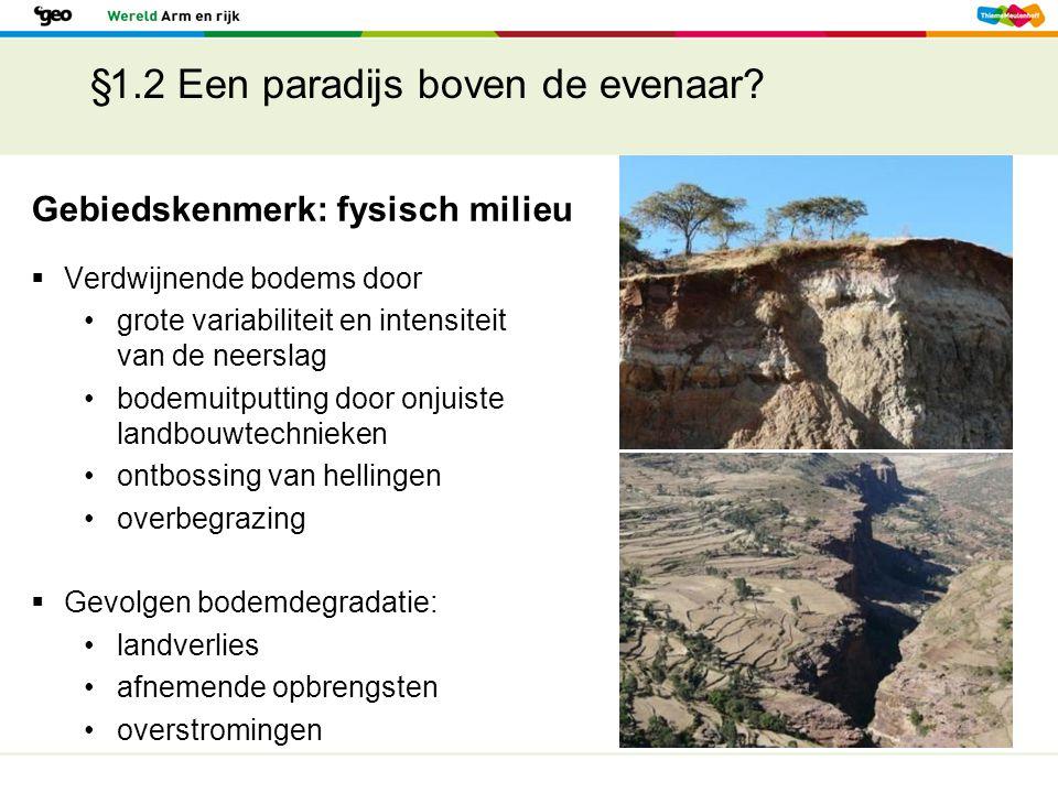 §1.2 Een paradijs boven de evenaar?  Verdwijnende bodems door grote variabiliteit en intensiteit van de neerslag bodemuitputting door onjuiste landbo