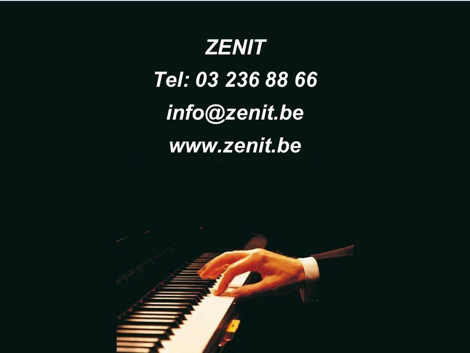 ZENIT Tel: 03 236 88 66 info@zenit.be www.zenit.be