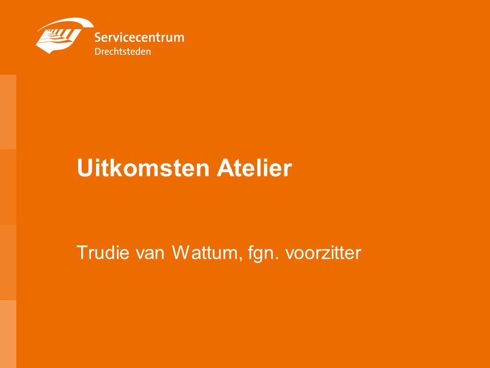 Uitkomsten Atelier Trudie van Wattum, fgn. voorzitter