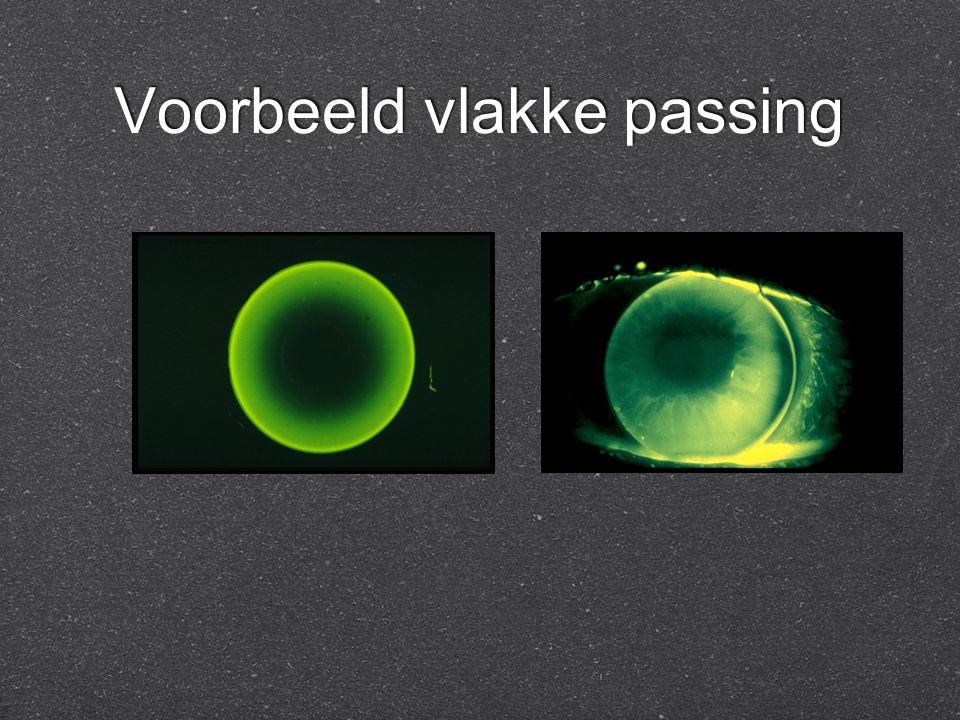 Voorbeeld vlakke passing