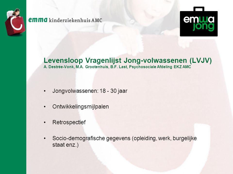 Levensloop Vragenlijst Jong-volwassenen (LVJV) A. Destrée-Vonk, M.A.