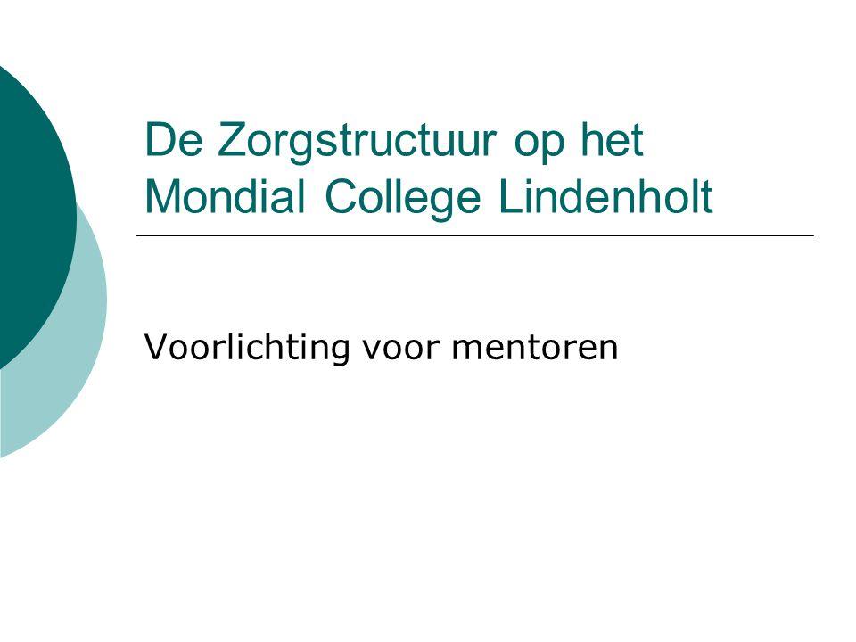 De Zorgstructuur op het Mondial College Lindenholt Voorlichting voor mentoren