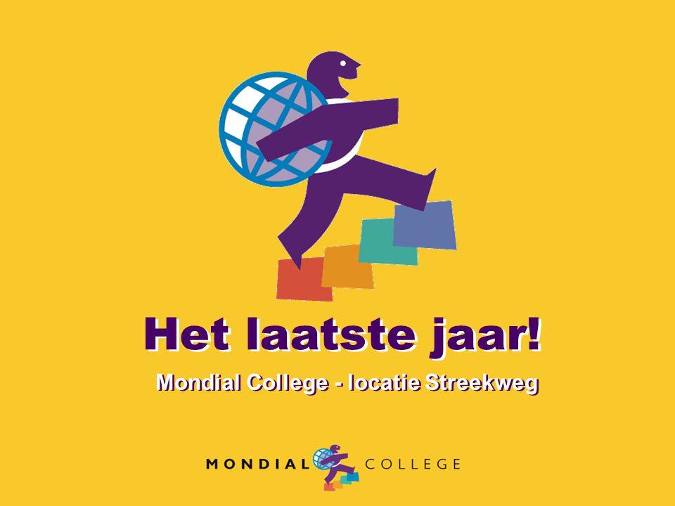 Het laatste jaar! Mondial College - locatie Streekweg