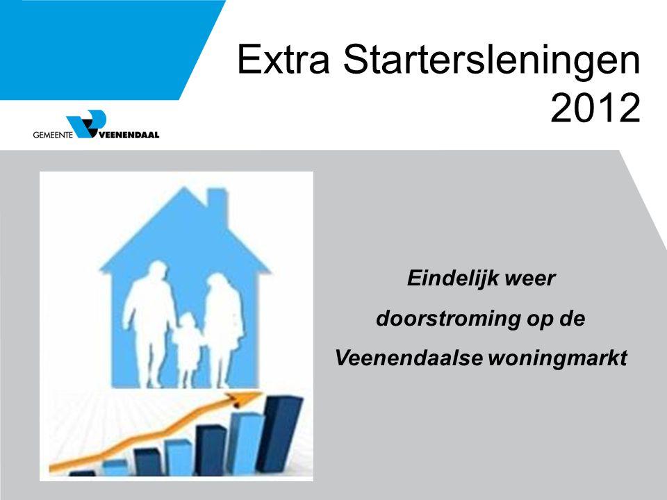 Extra Startersleningen 2012 Eindelijk weer doorstroming op de Veenendaalse woningmarkt