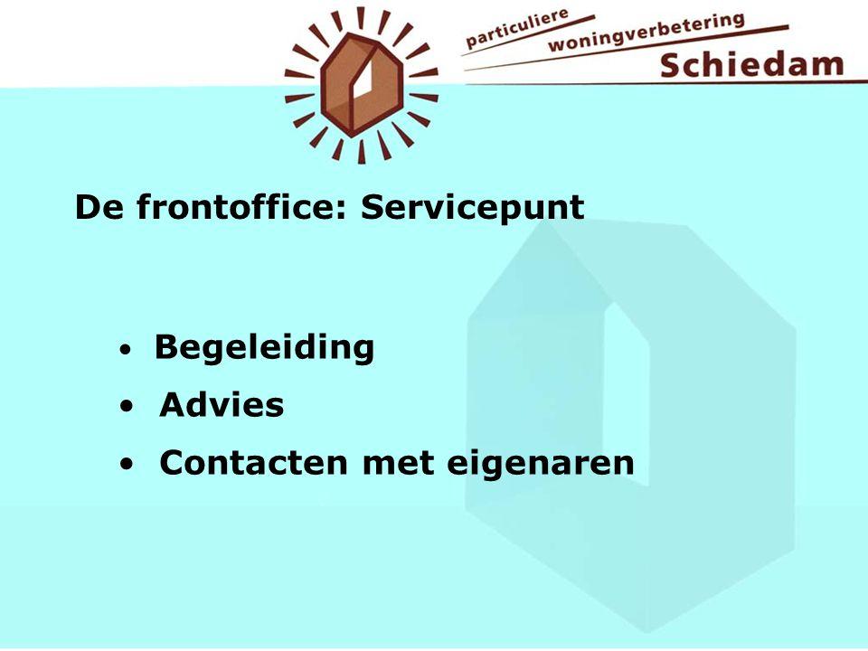 De frontoffice: Servicepunt Begeleiding Advies Contacten met eigenaren