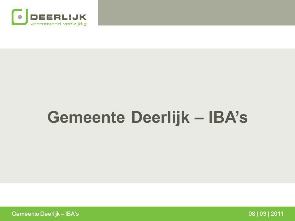 Gemeente Deerlijk – IBA's 08 | 03 | 2011