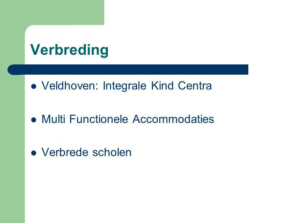Huisvesting Doel = in 2016 Kwalitatief goed schoolgebouw dat proces van verbreding mogelijk maakt.
