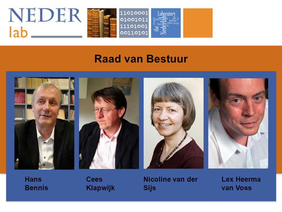 Raad van Bestuur Hans Bennis Cees Klapwijk Nicoline van der Sijs Lex Heerma van Voss