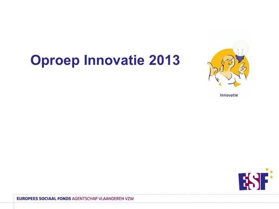 Oproep Innovatie 2013