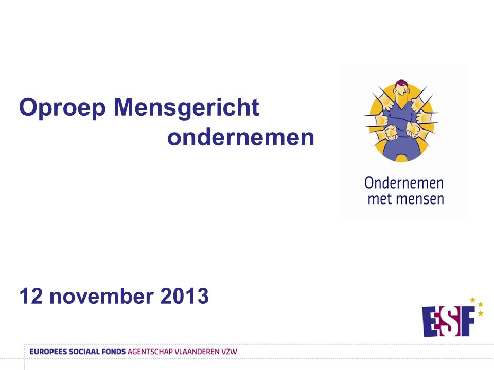 Oproep Mensgericht ondernemen 12 november 2013