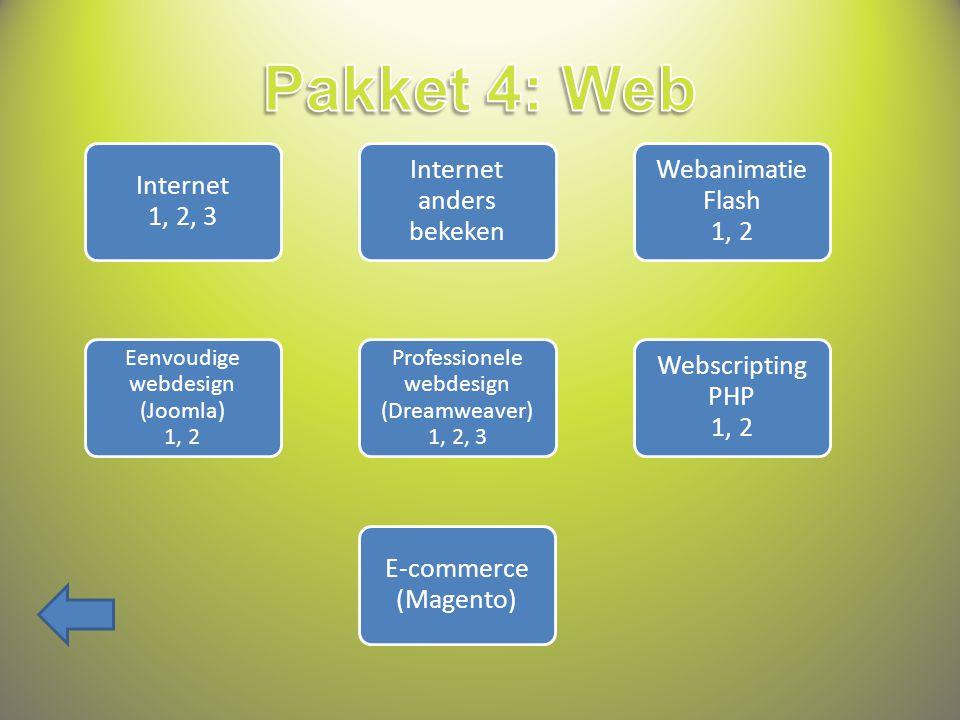 Besturings- systemen 1, 2, 3 Sketchup Autodesk Inventor 1, 2 Visual Basic 1, 2, 3, 4 Autocad 1, 2, 3 Linux 1, 2 Programmeren van databases PC's herstellen en bouwen